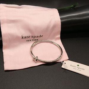 kate spade Sailor's knot bracelet in silver